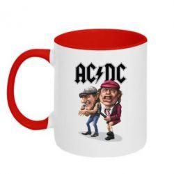 Кружка двокольорова AC/DC Art