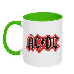 Кружка двухцветная AC/DC Vintage - FatLine