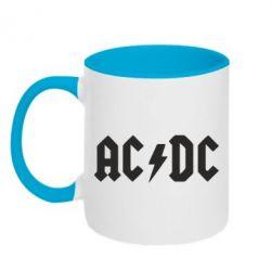 Кружка двухцветная AC DC - FatLine