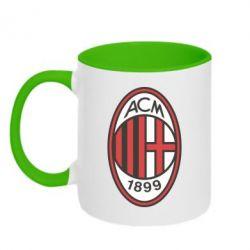 Кружка двухцветная AC Milan - FatLine