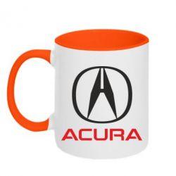 Кружка двухцветная Acura - FatLine