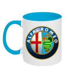 Кружка двухцветная ALFA ROMEO - FatLine