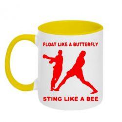 Кружка двухцветная Ali: Float Like A Butterfly - FatLine