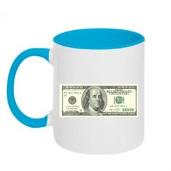Кружка двухцветная Американский Доллар - FatLine
