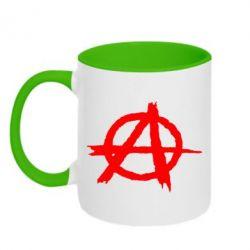 Кружка двухцветная Anarchy - FatLine