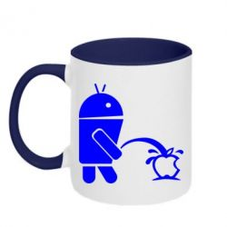 Кружка двухцветная Android унижает Apple - FatLine