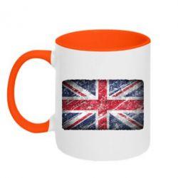 Кружка двухцветная Англия - FatLine