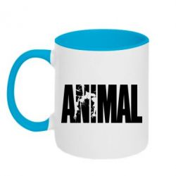 Кружка двухцветная Animal Powerlifting - FatLine