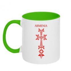 Кружка двухцветная Armenia - FatLine