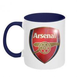 Кружка двухцветная Arsenal 3D - FatLine