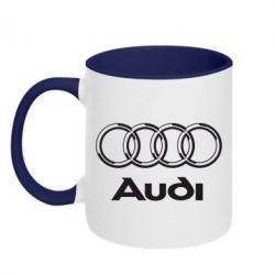 Кружка двухцветная Audi Big - FatLine