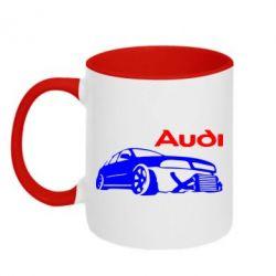 Кружка двухцветная Audi Turbo - FatLine