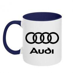 Кружка двухцветная Audi - FatLine