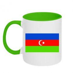 Кружка двухцветная Азербайджан - FatLine