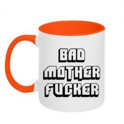 Кружка двухцветная Bad Mother F*cker - FatLine