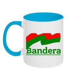 Кружка двухцветная Bandera - FatLine