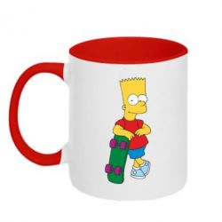 Кружка двухцветная Bart Simpson - FatLine