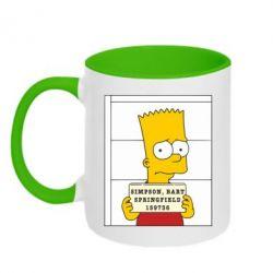 Кружка двухцветная Барт в тюряге - FatLine