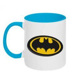 Кружка двоколірна 320ml Batman 3D