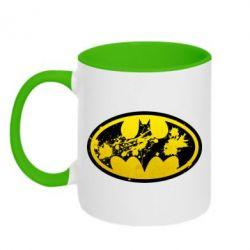 Кружка двухцветная Batman Graffiti - FatLine