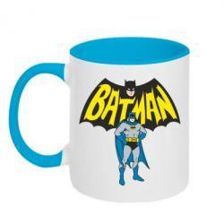 Кружка двухцветная Batman Hero - FatLine