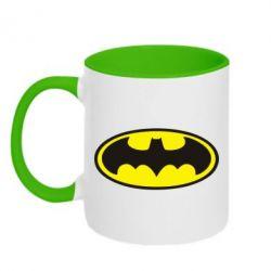 Кружка двухцветная Batman - FatLine