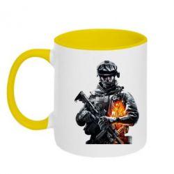 Кружка двухцветная Battlefield Warrior