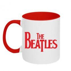 Кружка двухцветная Beatles - FatLine