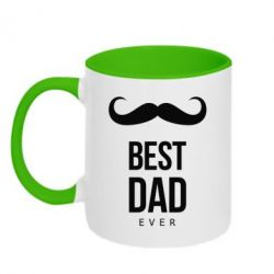 Кружка двухцветная Best Dad Ever - FatLine