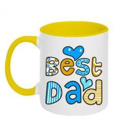 Кружка двухцветная Best Dad - FatLine