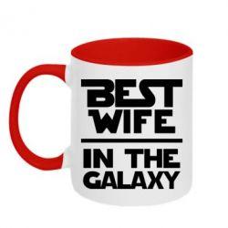 Кружка двухцветная 320ml Best wife in the Galaxy