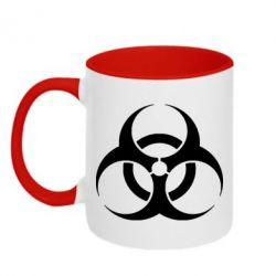 Кружка двухцветная biohazard - FatLine