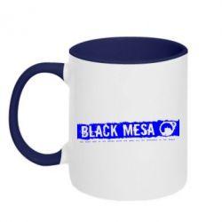 Кружка двухцветная Black Mesa