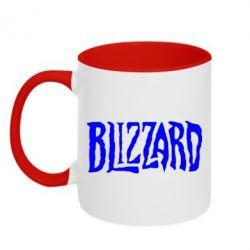 Кружка двухцветная Blizzard Logo - FatLine