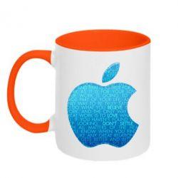 Кружка двухцветная Blue Apple