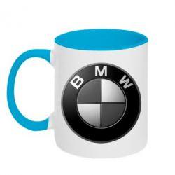 Кружка двухцветная BMW Black & White - FatLine