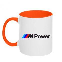 Кружка двухцветная BMW M Power logo - FatLine