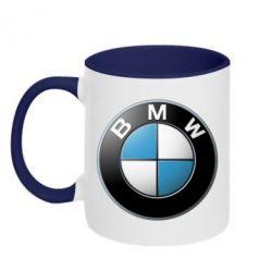 Кружка двухцветная BMW Small Logo - FatLine