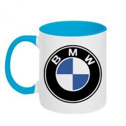 Кружка двухцветная BMW - FatLine