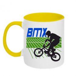 Кружка двухцветная BMX Sport - FatLine