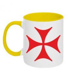 Кружка двухцветная Болнисский крест - FatLine