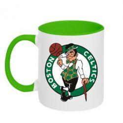 Кружка двухцветная Boston Celtics - FatLine