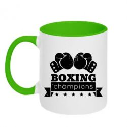 Кружка двухцветная Boxing Champions - FatLine