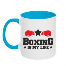 Кружка двоколірна 320ml Boxing is my life