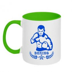 Кружка двухцветная Boxing Star - FatLine