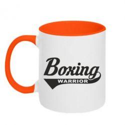 Кружка двоколірна 320ml Boxing Warrior