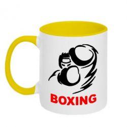 Кружка двухцветная Boxing - FatLine