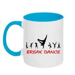 Кружка двухцветная Break Dance - FatLine