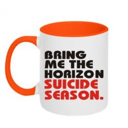 Кружка двухцветная Bring me the horizon suicide season. - FatLine