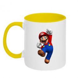 Кружка двухцветная Brother Mario - FatLine